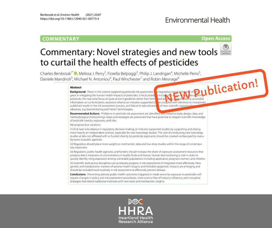 HHRA Commentary Recommends Four Steps to Fix Systemic Problems with Pesticide Regulation